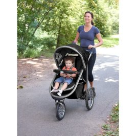Graco Fastaction Fold Jogger Click Connect Stroller in action