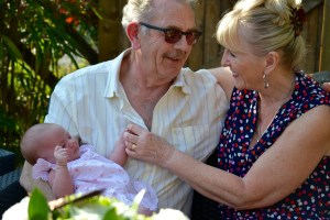 Grandparents with baby