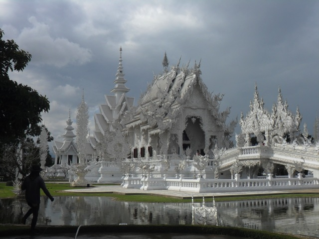 Wat Ron Khun temple in Chiang Rai, Northern Thailand.