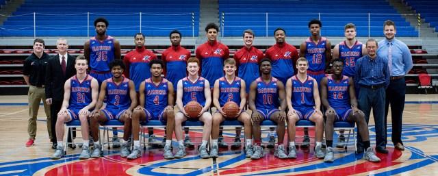 Men's Basketball team photo.