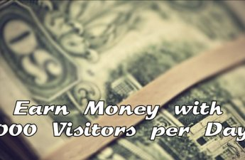 Earn Money with 1000 Visitors per Day