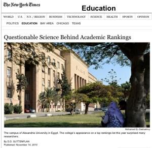 Il New York Times smonta l'exploit dell'università egiziana di Alessandria