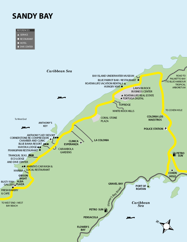 Bay Honduras Map