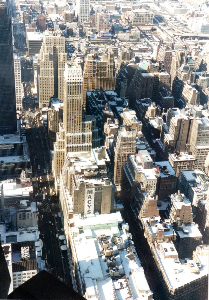 View looking down from the Empire State building in New York - Rob Gregory Author