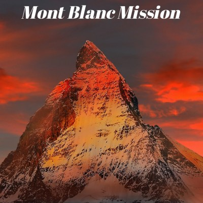 Cover for Fotherington-Tomas and the Mont Blanc Mission. Humorous fiction by Rob Gregory Author.