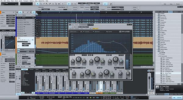 schermata della popolare DAW Studio One