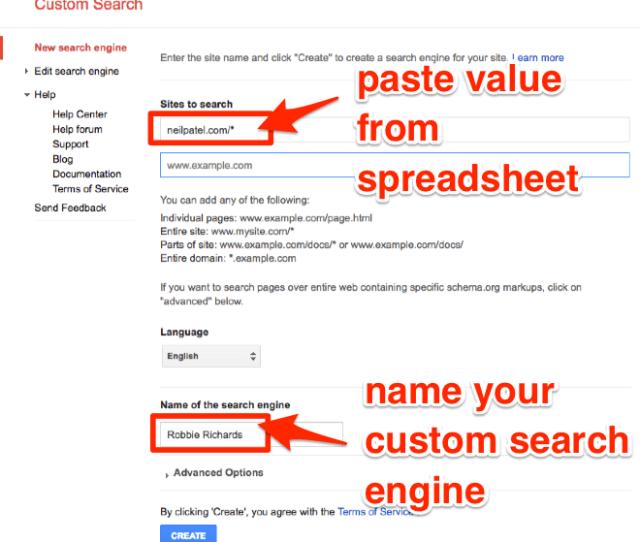 Set Up Custom Search Engine