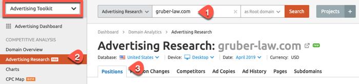 SEMrush Advertising Toolkit