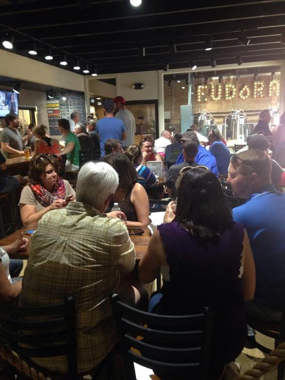 Eudora Brewing Co was standing room only for most of the night!