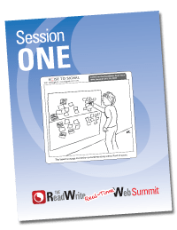 Session notes cover featuring a cartoon by Rob