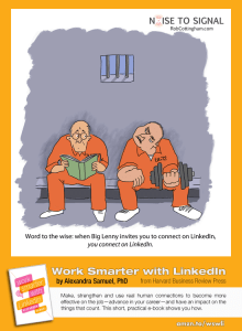 Work Smarter with LinkedIn pinnable graphic