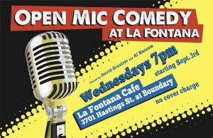 Open Mic Comedy at La Fontana Caffe