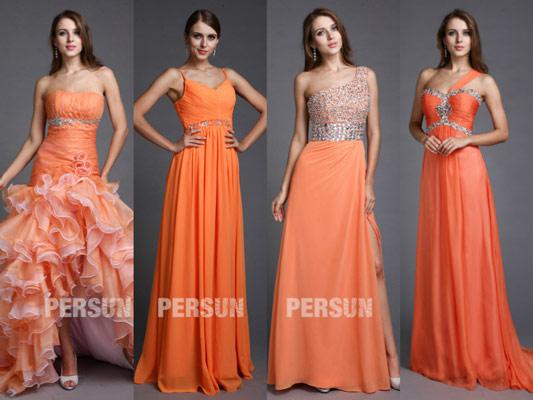 robe-orange-chic-pour-soiree