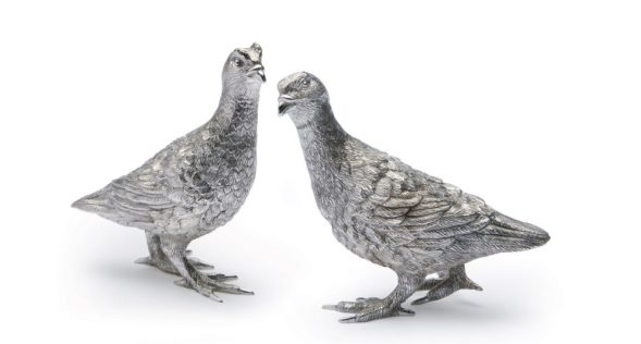 F H 'M152' Silver Plated Grouse and 'M153' Silver Grouse
