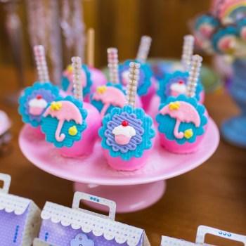 doces chuva de cupcakes