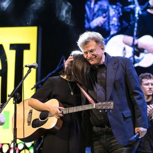 Roberta Finocchiaro e Red Ronnie alla premiazione del FIAT MUSIC contest