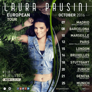 Laura Pausini – Simili European Tour 2016
