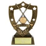 N01062AG N01062AG Crossed Clubs Golf Trophy