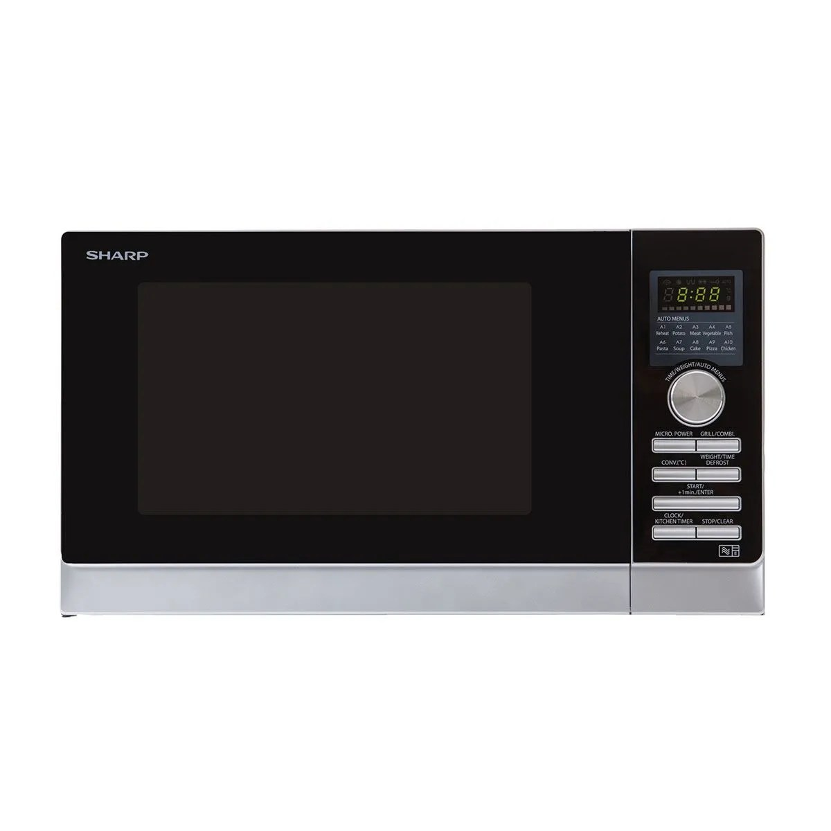 sharp r843slm 25l 900w convection microwave stainless steel