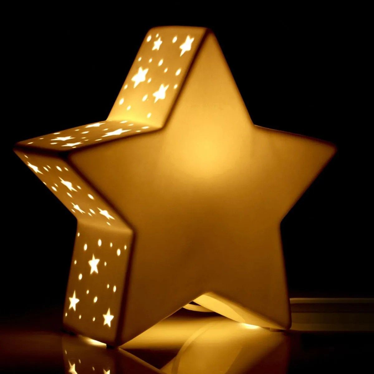 Kids Ceramic Star Night Light Robert Dyas