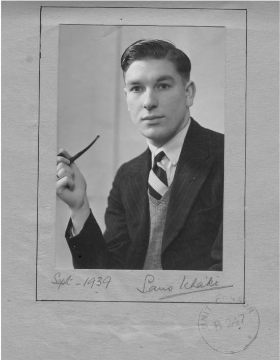 Robert Eric Hill in September 1939