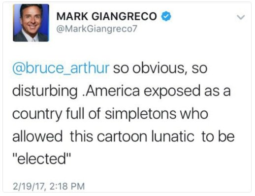 Image result for mark giangreco OBVIOUS DISTURBING TRUM
