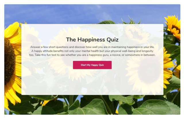 Happiness Quiz- How to Measure Happiness