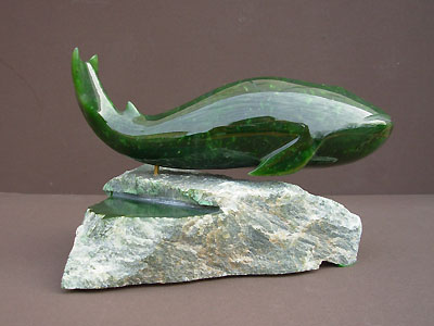 Humpback Whale Jade Carving Stone Carvings Stone Decor Robert Hall Originals