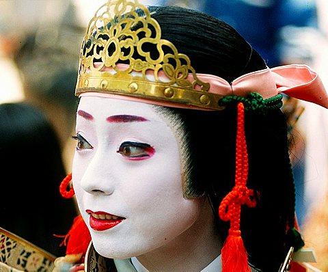 Japan, Kansai, Kyoto, Jidai Matsuri, festival, woman in historical costume,