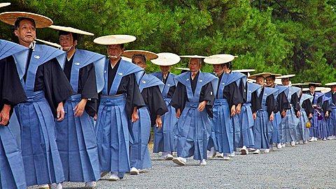 Costumed participants in the Jidai Matsuri