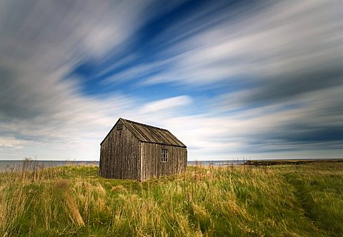 Old fisherman's hut, Beadnell,  Northumberland, England, United Kingdom, Europe