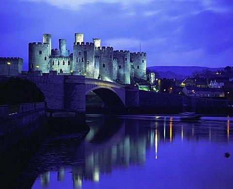 Conwy (Conway) Castle, UNESCO World Heritage Site, Gwynedd, North Wales, UK, Europe