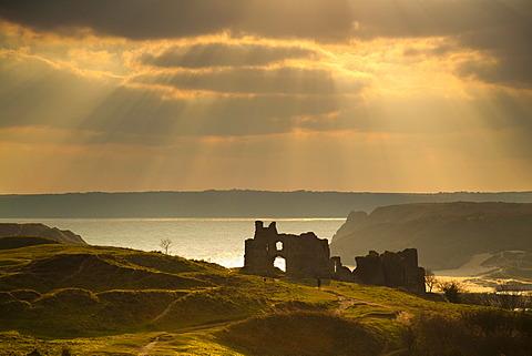 Pennard Castle, Gower, Wales, United Kingdom, Europe