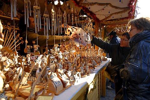 Marketstall on Christmas fair, Brussels, Brabant, Belgium