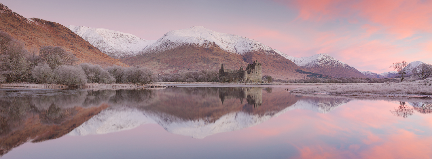 Kilchurn Castle in Scotland at sunrise image