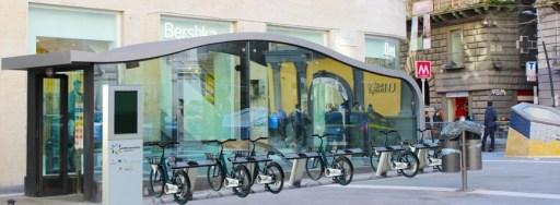 Bikesharing Napoli presso metro Toledo