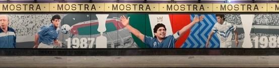 Stazione Cumana, murales Maradona