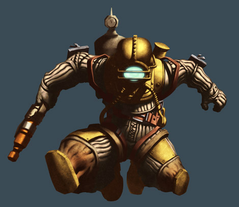 Photoshop Tutorial : Bioshock Videogame Digital Painting - Details