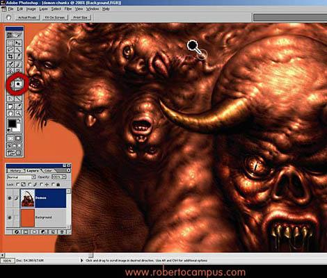 Photoshop Tutorial : Soul Eater Fantasy Digital Painting Step 5