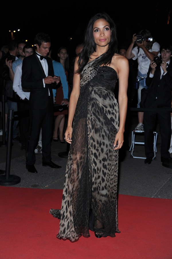 Rosario Dawson in Roberto Cavalli @ after party of  the premiere of the film 'Les Bien-Aimes' during the 64th Cannes Film Festival  France 2011-05-22