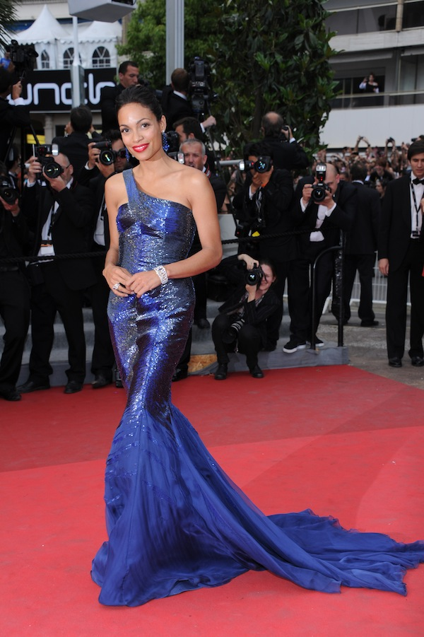 Rosario Dawson in Roberto Cavalli @ the premiere of the film 'Les Bien-Aimes' during the 64th Cannes Film Festival  France 2011-05-22