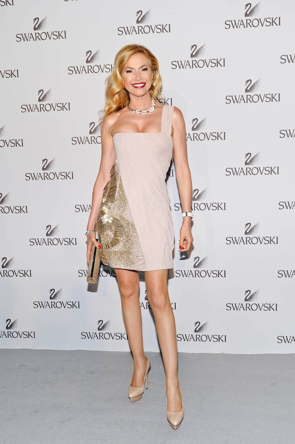Federica Panicucci in Roberto Cavalli at the Swarowsky party 2011-06-07 in Milan