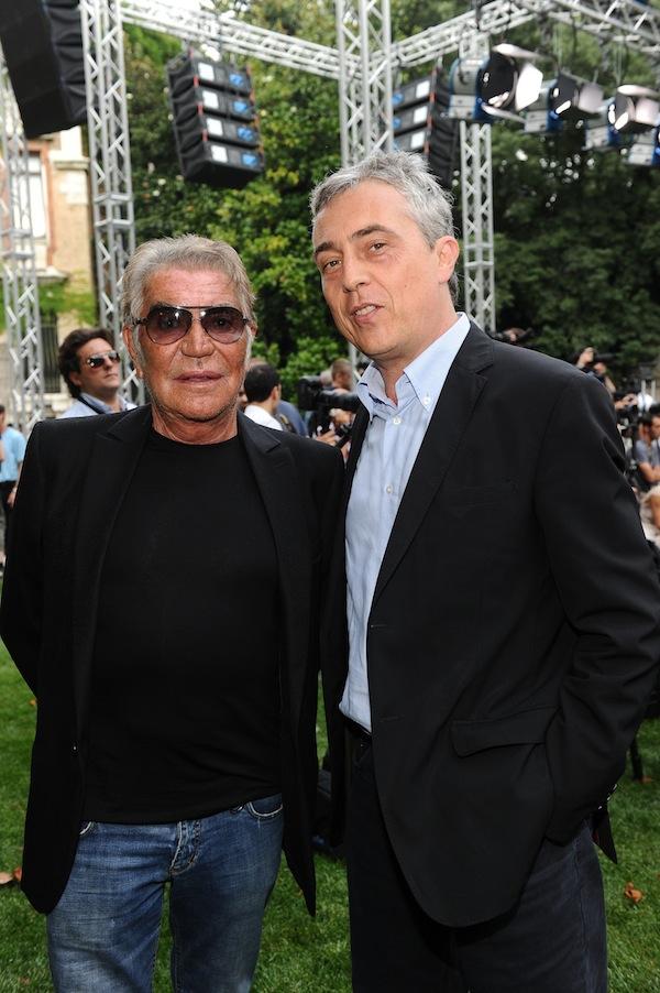 Roberto Cavalli and Stefano Boeri