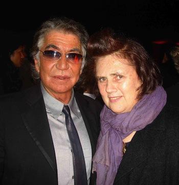 Roberto Cavalli e Suzy Menkes