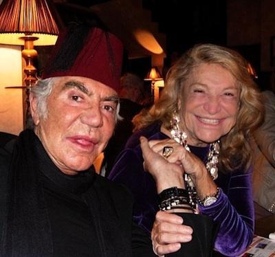 Roberto Cavalli with Marta Marzotto