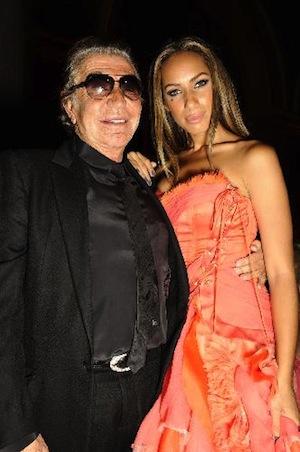 Roberto Cavalli with Leona Lewis