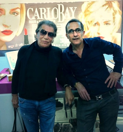 Roberto Cavalli with Carlo Bay