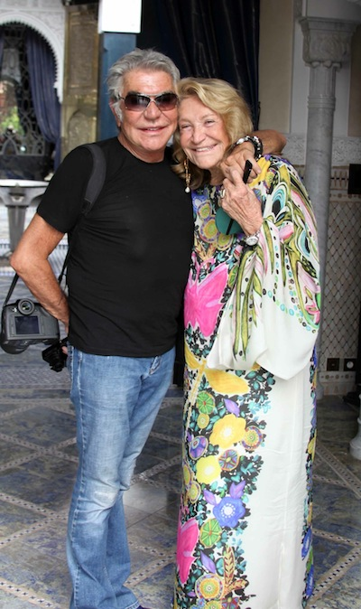 Roberto Cavalli with Marta Marzotto