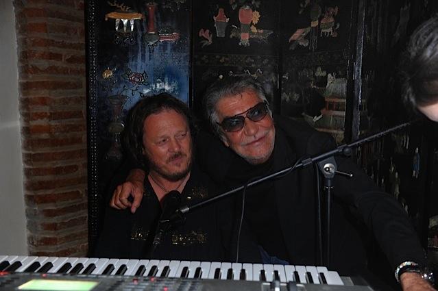 Roberto Cavalli with Zucchero
