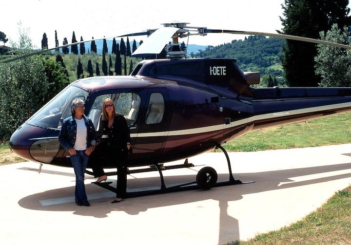 Roberto Cavalli's helicopter
